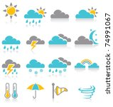 weather icons | Shutterstock .eps vector #74991067