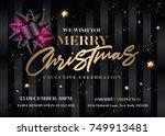 merry christmas invitation... | Shutterstock .eps vector #749913481