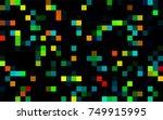 dark green vector background of ... | Shutterstock .eps vector #749915995