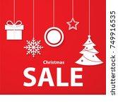 christmas gift  christmas... | Shutterstock .eps vector #749916535