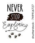 vector wild west lettering in... | Shutterstock .eps vector #749916727