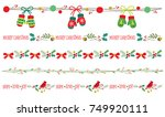 seamless christmas decorative... | Shutterstock .eps vector #749920111