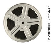16 mm motion picture film reel  ... | Shutterstock . vector #74992264