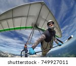 selfie shot of brave extreme... | Shutterstock . vector #749927011