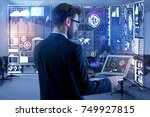 side view of young businessman... | Shutterstock . vector #749927815
