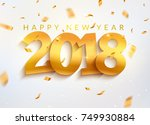 2018 new year greeting card... | Shutterstock .eps vector #749930884