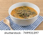 thai cuisine and food  a bowl...   Shutterstock . vector #749931397