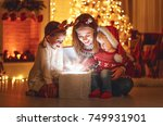 merry christmas  family mother... | Shutterstock . vector #749931901