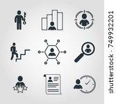 simple set of business vector... | Shutterstock .eps vector #749932201