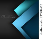 blue vector triangle frame... | Shutterstock .eps vector #749932657