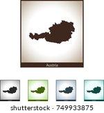 map of austria | Shutterstock .eps vector #749933875