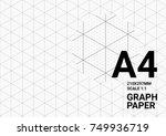 isometric graph paper... | Shutterstock .eps vector #749936719