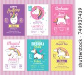 Set Of Unicorn Birthday...