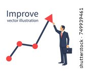 improve business concept.... | Shutterstock .eps vector #749939461