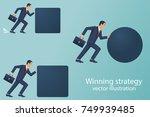 winning strategy business... | Shutterstock .eps vector #749939485