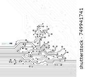 vector circuit board... | Shutterstock .eps vector #749941741