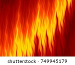 abstract fire flames horizontal