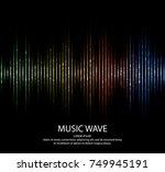 sound waves. music digital... | Shutterstock .eps vector #749945191