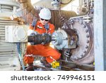 mechanical inspector inspection ... | Shutterstock . vector #749946151