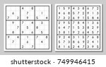 vector sudoku with the answer.... | Shutterstock .eps vector #749946415