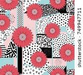 seamless flower abstract... | Shutterstock .eps vector #749947711