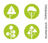 tree icons | Shutterstock .eps vector #749949061