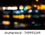 abstract colorful blurred city... | Shutterstock . vector #749951149