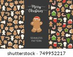 seamless pattern of different... | Shutterstock .eps vector #749952217