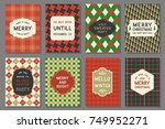 invitation for party and merry... | Shutterstock .eps vector #749952271