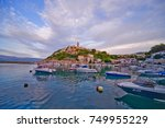 this is a view of croatian town ... | Shutterstock . vector #749955229