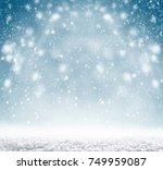 winter christmas background... | Shutterstock . vector #749959087