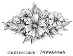 beautiful flower arrangement  a ...   Shutterstock .eps vector #749964469