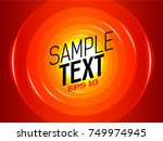 background with circles and... | Shutterstock .eps vector #749974945