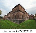 sforza castle in milan  italy  | Shutterstock . vector #749977111
