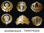lotus collection | Shutterstock .eps vector #749979205