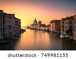 venice grand canal view  santa... | Shutterstock . vector #749981155