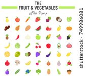 fruit and vegetables flat icon... | Shutterstock .eps vector #749986081