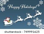 vector illustration of santa... | Shutterstock .eps vector #749991625