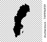 vector map sweden. isolated...   Shutterstock .eps vector #749996959