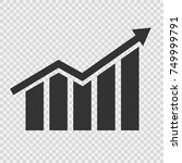 growing graphic icon. vector...   Shutterstock .eps vector #749999791