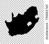 vector map south africa.... | Shutterstock .eps vector #750001765