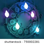 astrological signs in the... | Shutterstock . vector #750002281