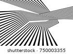 black and white stripe line... | Shutterstock .eps vector #750003355