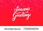 christmas. season's greetings... | Shutterstock .eps vector #750004054