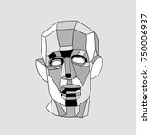 classical sculpture. vector... | Shutterstock .eps vector #750006937