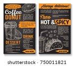 fast food tacos snack sandwich  ... | Shutterstock .eps vector #750011821