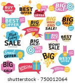 flat design colorful sale... | Shutterstock .eps vector #750012064