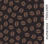 coffee beans seamless pattern ... | Shutterstock .eps vector #750012409