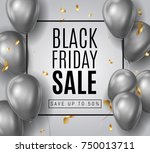 black friday sale ads with... | Shutterstock .eps vector #750013711