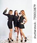 full length  image of three... | Shutterstock . vector #750013879